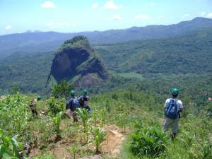 Indonesian mapping team at Gunung Lingo, Trengalek, Java