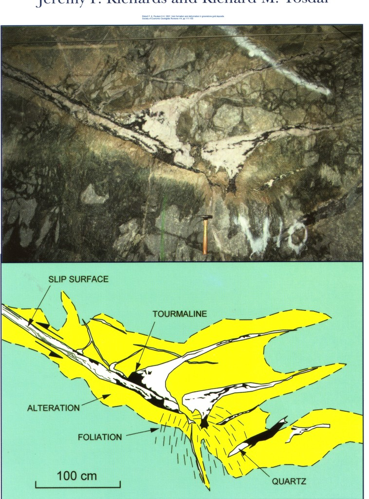 gold veins Sigma Mine, Val Dor Robert F & Poulsen KH 2001 Reviews Econ Geol v14 111-152